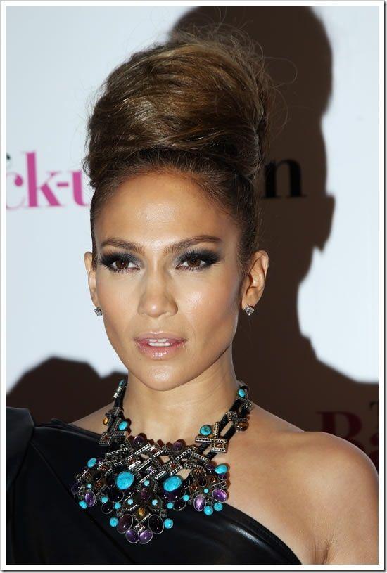 Peinado de fiesta Jennifer López Peinados peinados Pinterest