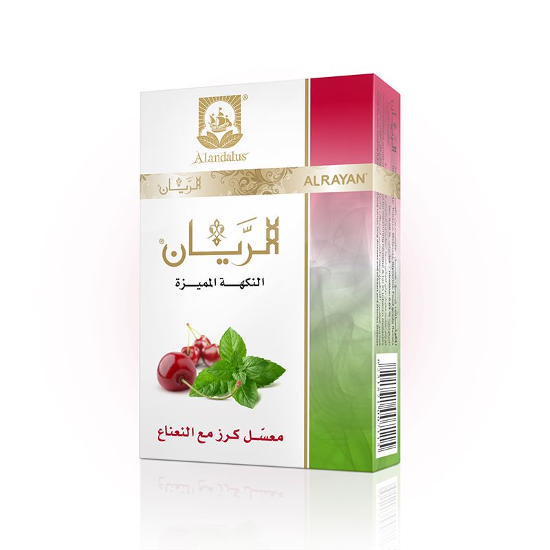 ALRAYAN Premium flavour Cherry with Mint Hookah Tobacco.