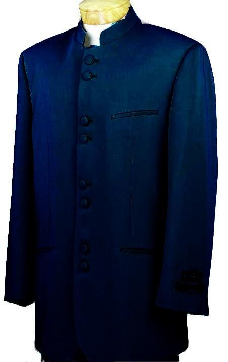 d2cfee7a9 Mandarin Collar BANNED Collar Navy Blue Suit 8 Button Extra Fine French Cut  Suit   MensITALY Price: US $149
