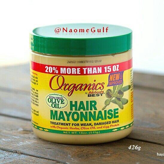 مايونيز الشعر العضوي الافريقي راح تلاقو مقاطع عليه باليوتيوب انه مخصص للشعر الافريقي Olive Oil Hair Mayonnaise Treatment Mayonnaise Hair Treatments