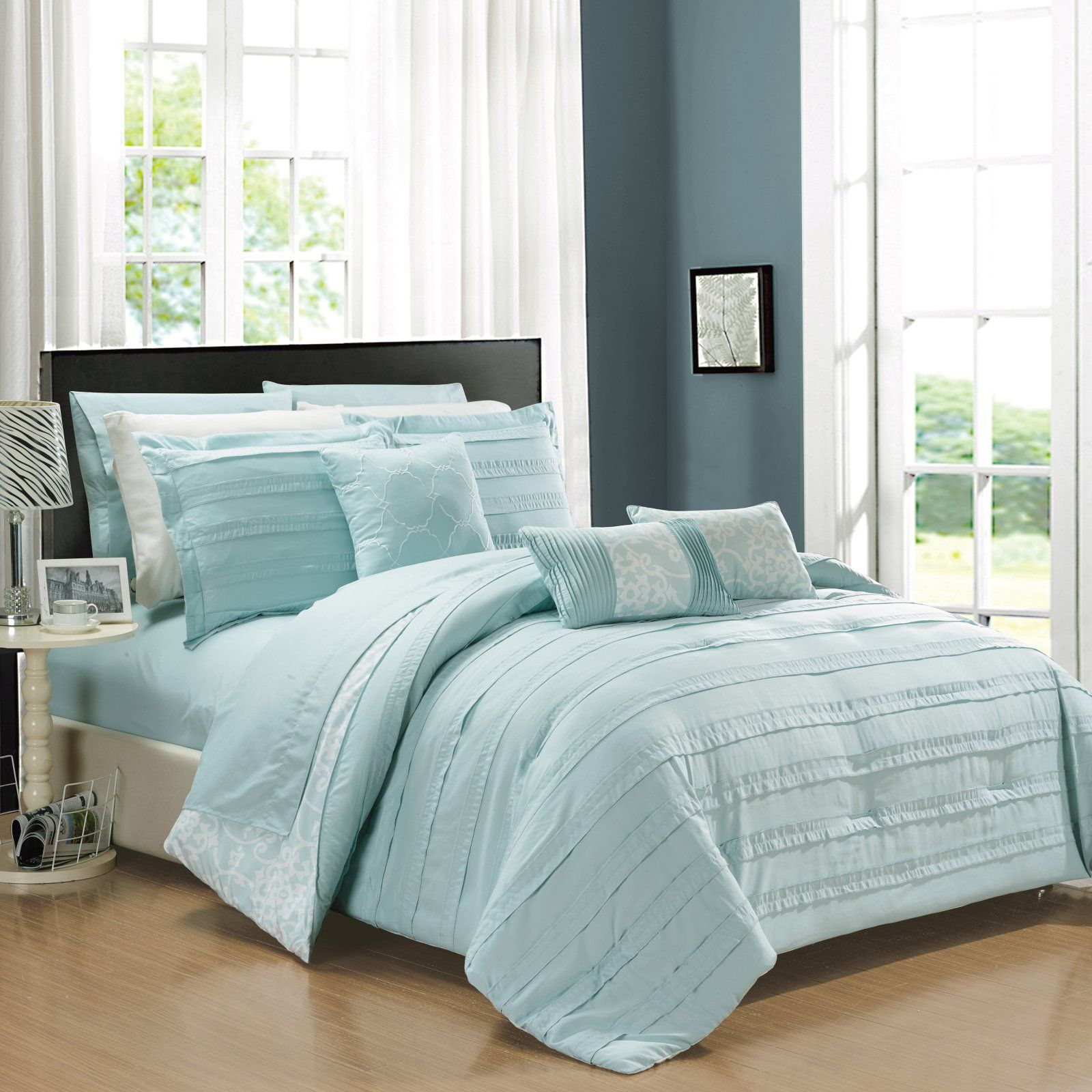 Chic Home Zarina Reversible Bed In A Bag Comforter Set With