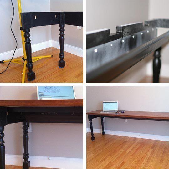 Jonathan S Diy Rain Gutter Cable Management Desk For The Hubs