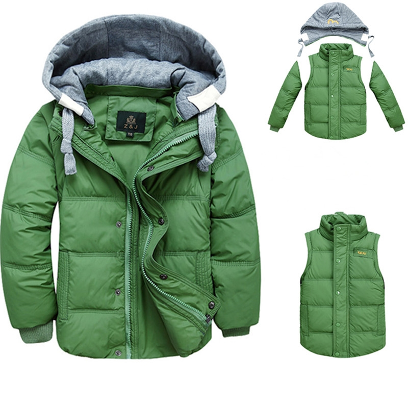 29.68$  Buy now - http://ali99c.shopchina.info/go.php?t=32717479924 - 2017 sport children clothing white duck down winter boy jackets removable hooded solid winter boys down jacket coats for 4-10T  #SHOPPING