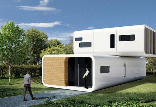 Attirant Coodo, Modular Residential Building, Future Design, Future Homes,  Futuristic Home