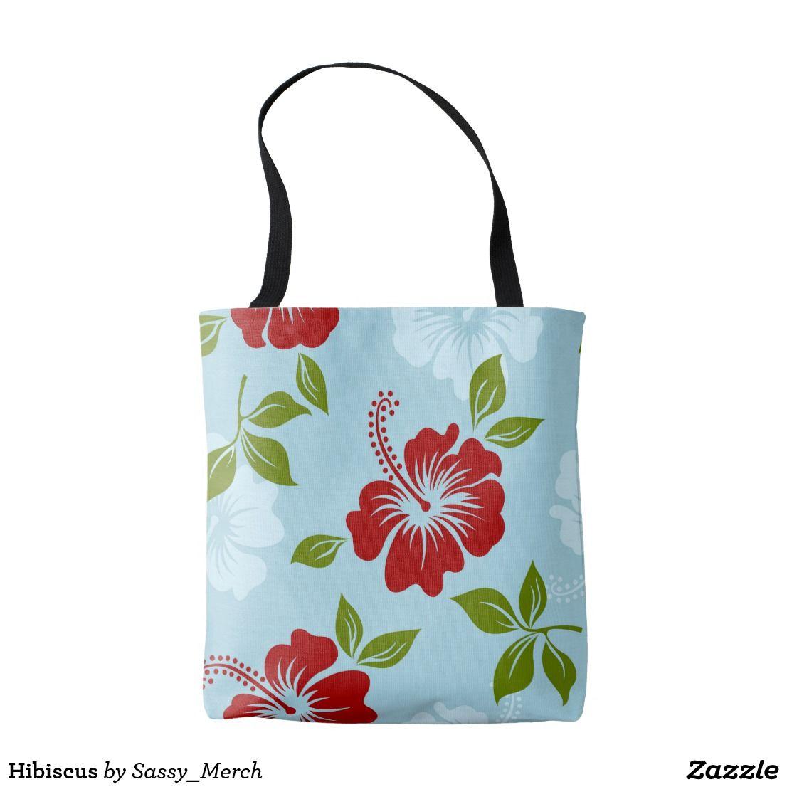 Hibiscus Tote Bag Zazzle Com Tote Bag Bags Floral Tote Bags