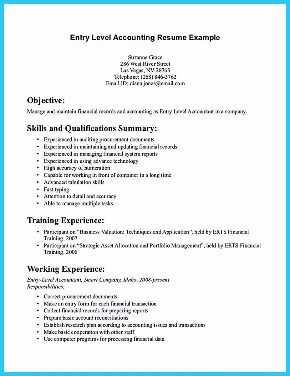 Entry Level Warehouse Resume Elegant Sample For Writing An Accounting Resume Job Resume Samples Job Resume Examples Warehouse Resume