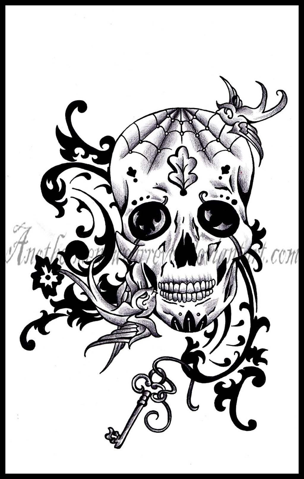 Tattoo Png Download 2020 In 2020 Skull Girl Tattoo Sugar Skull Tattoos Sugar Skull Girl Tattoo