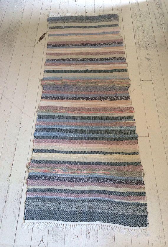 Vintage Rag Rug Runner Scandinavian Rug By Cashmerevintage Scandinavian Rug Rag Rug Rugs