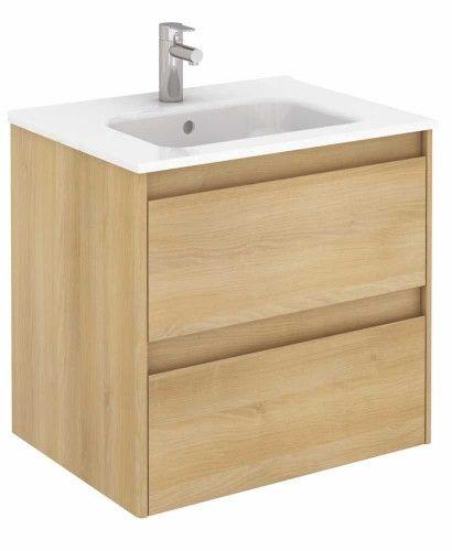 Innovativ Vichy Oak 60 cm Wall Hung Vanity Unit and Slim Basin £330 | New  NT91