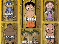 chhota bheem characters wallpaper