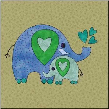 Baby Elephant Applique Pattern