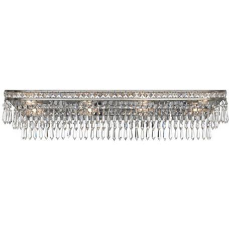 Crystorama Mercer Wide Light Silver Vanity Light Vanities - 8 light bathroom fixture