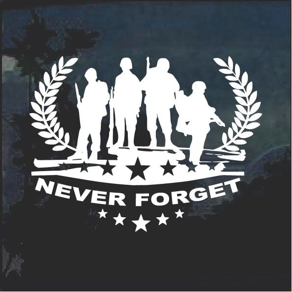 d795e767333 Super Cool Never forget Military Honor window decal sticker Check it out  here https