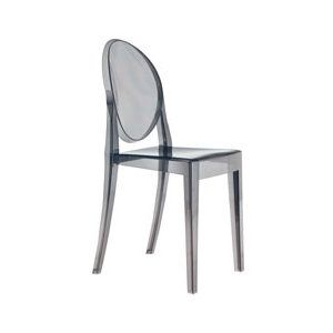 Victoria Ghost Chair Transparent Smoke Grey With Images Kartell Victoria Ghost Chair