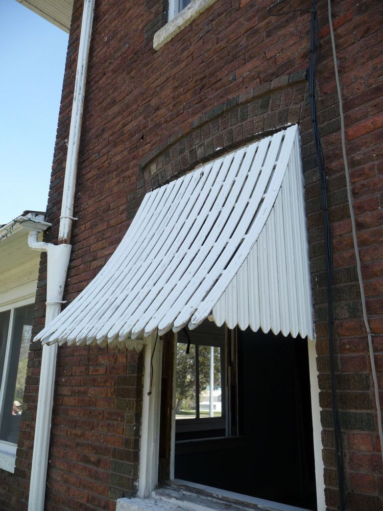Details About Antique Wood Window Awning Circa 1910