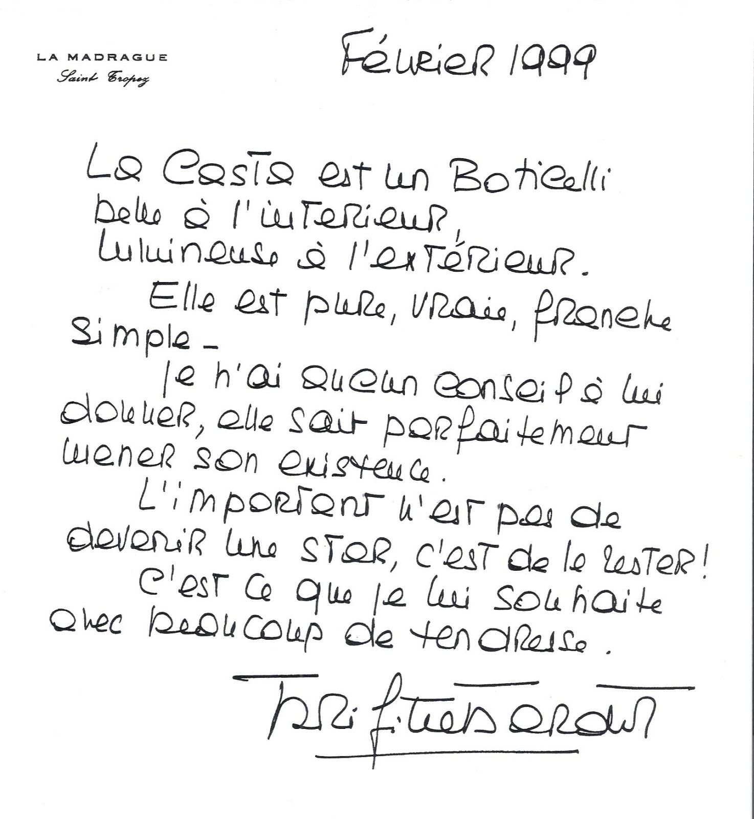 Mme Son criture Est Belle   Brigitte Bardot    Bardot