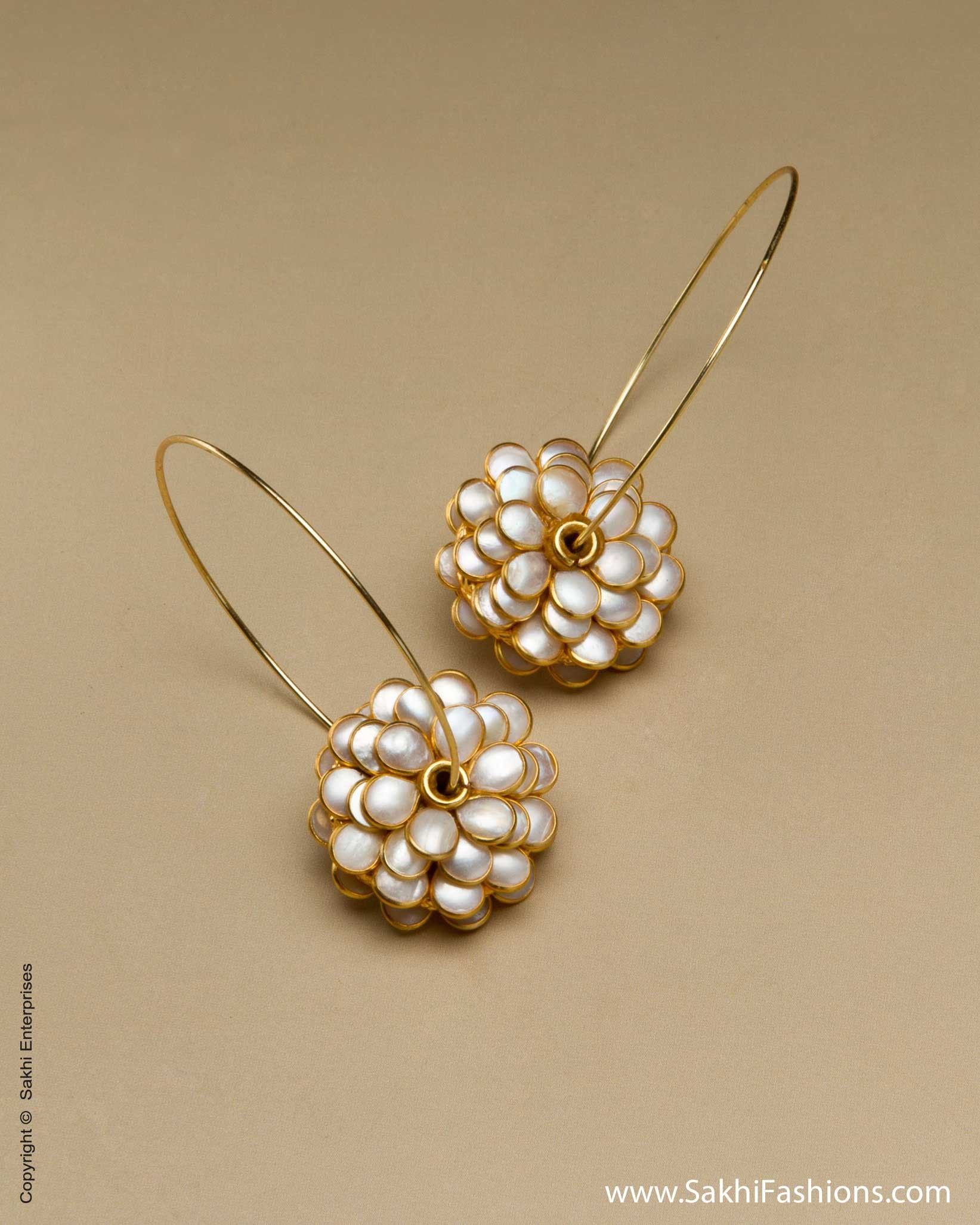 Jewelry & Accessories Motivated Elegant Gold Color Flower Simulated Pearl Earrings Trendy Bridal Earring Jewelry Beautiful In Colour Stud Earrings