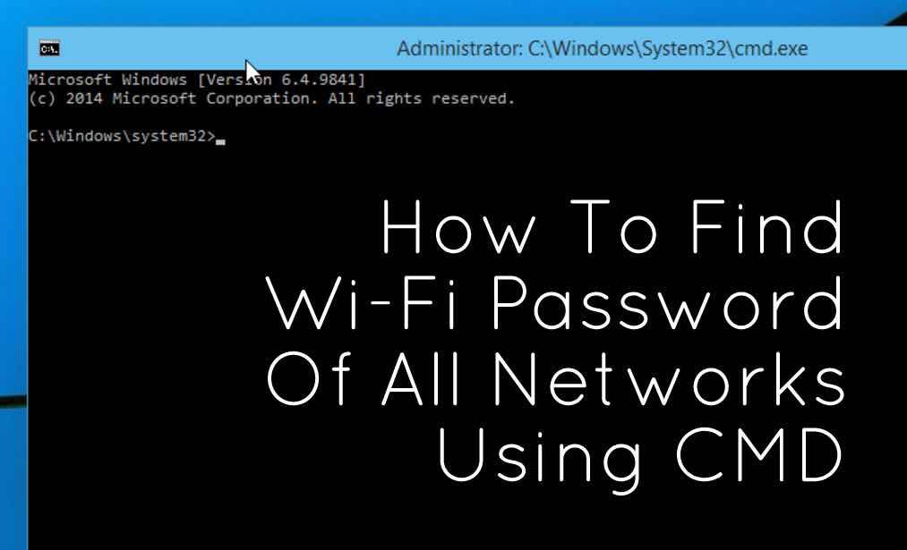 It is very easy to find wifi password using cmd  This