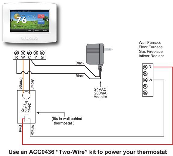 Two Wire Thermostat Wiring Diagram Floor Furnace Furnace