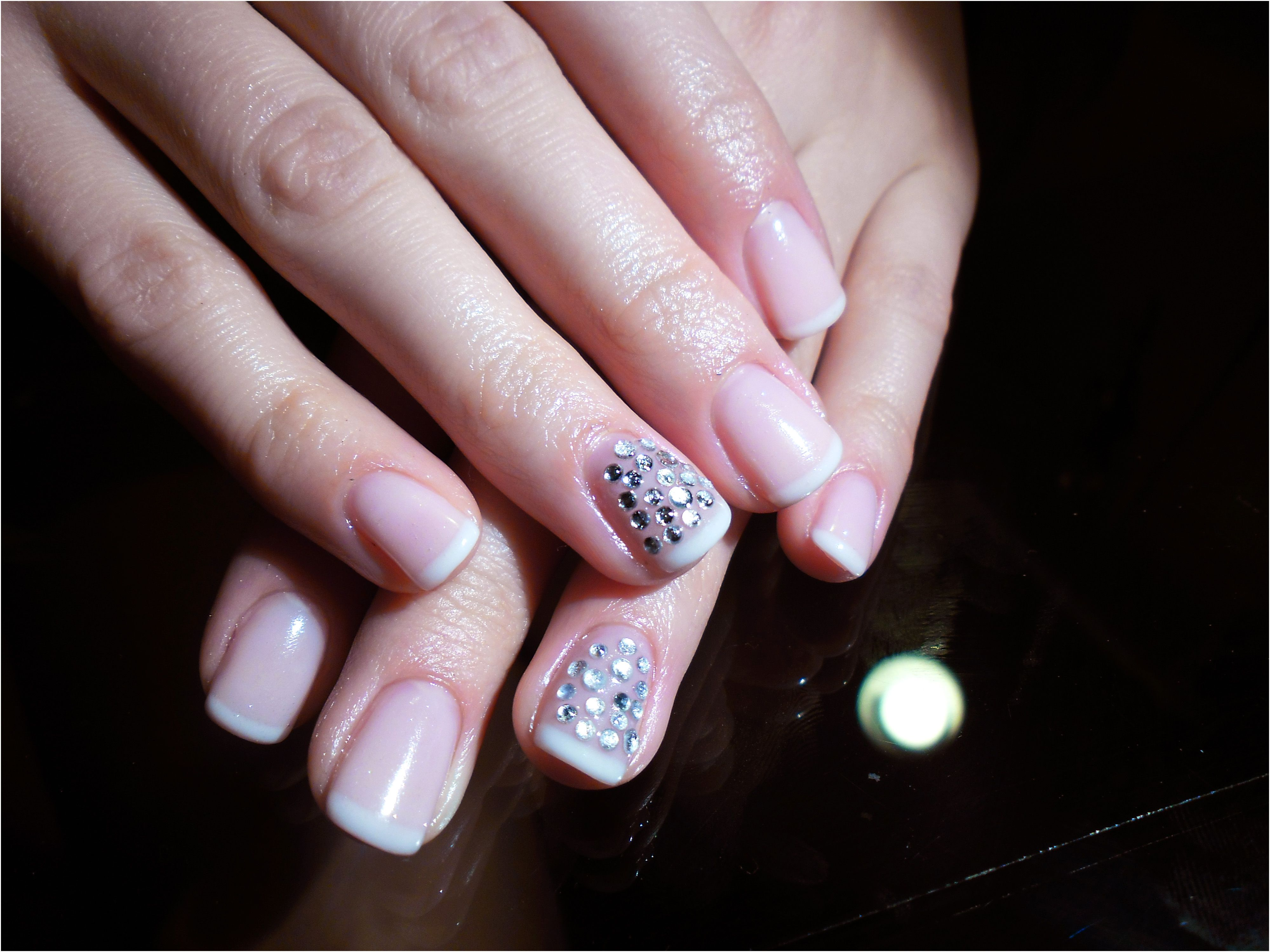 short gel nails, french variation | cute idwas | Pinterest | Short ...