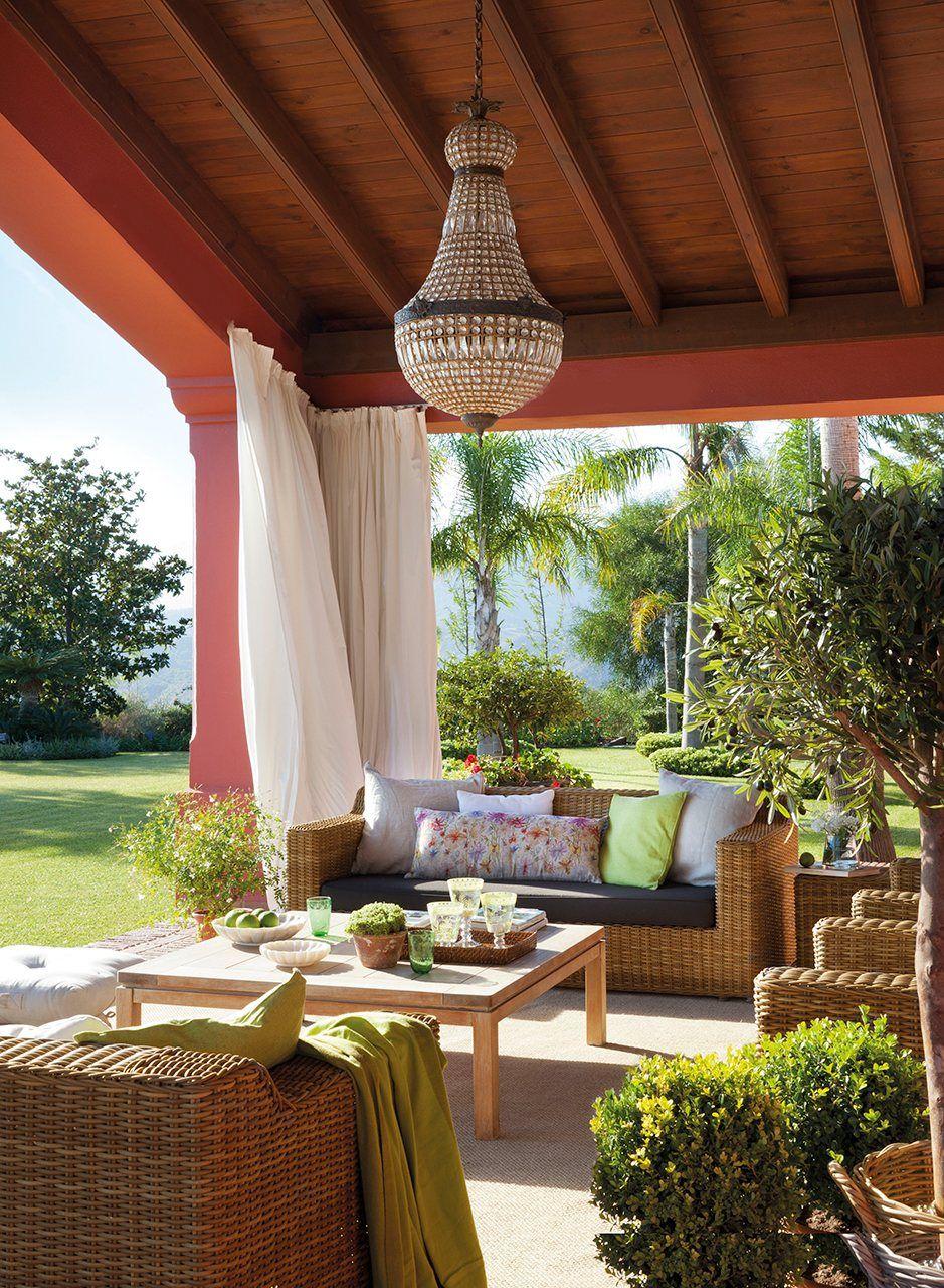 Un porche con el embrujo de la alhambra casa sana espacios al aire libre - Terrazas bonitas ...
