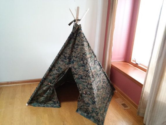 finest selection 1c225 54e88 Camouflage Kids tent, Childrens Tent, Teepee, Play Tent ...