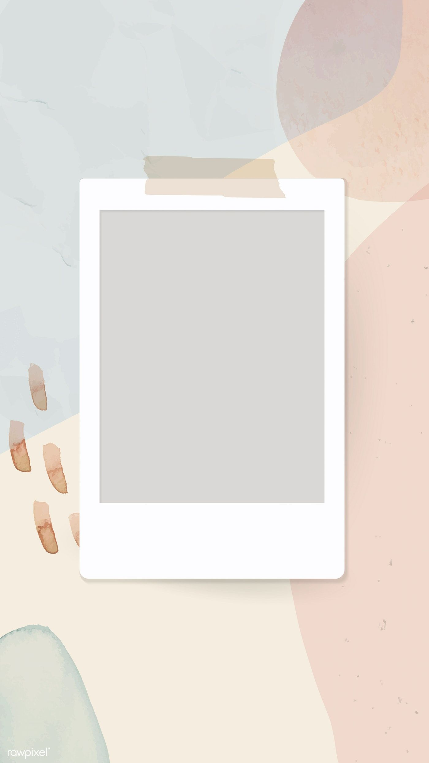 Download Premium Vector Of Blank Instant Photo Frame On Neutral