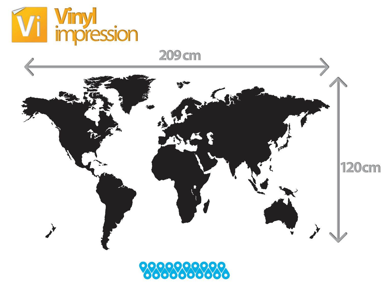 Map large world map sticker vinyl wall sticker sticker decal large world map vinyl wall sticker 93aud via etsy gumiabroncs Gallery