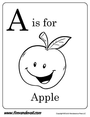 A Is For Apple Letter A Coloring Page Apple Coloring