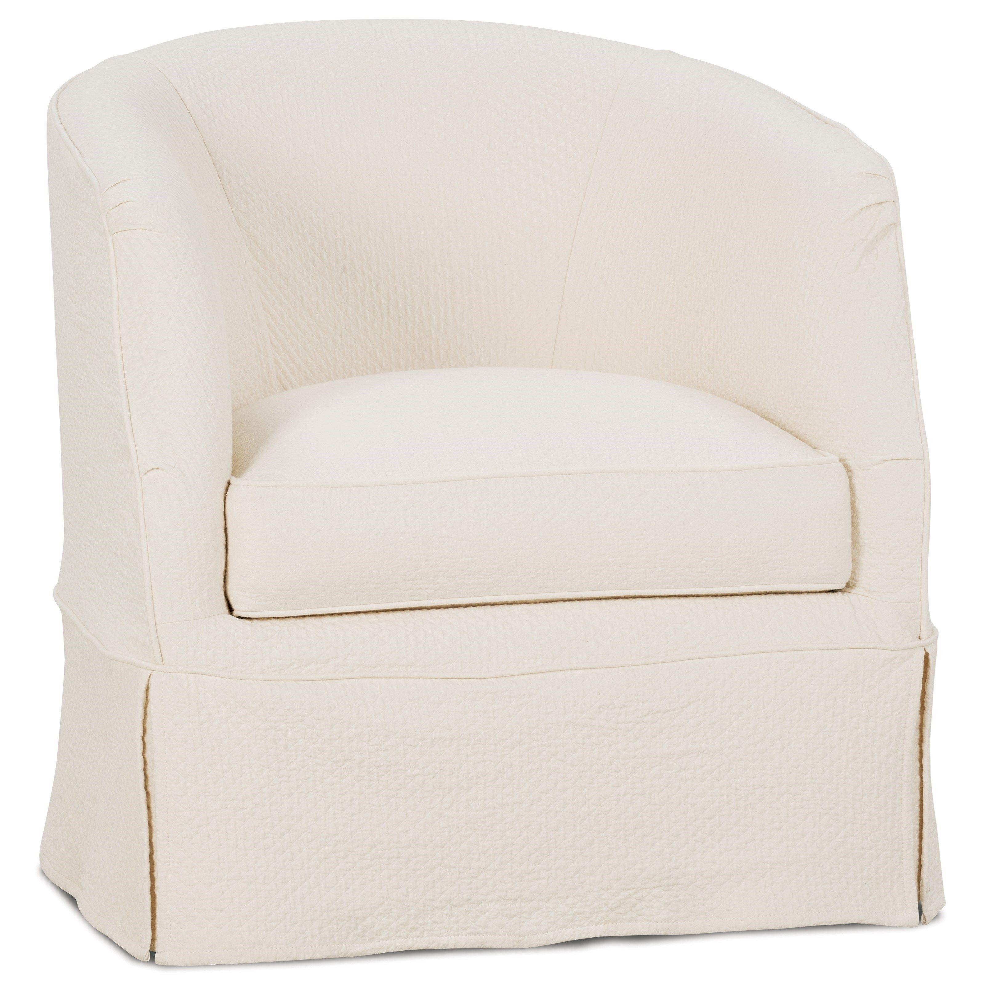 Amazing Ava Traditional Swivel Chair With Slipcover By Rowe My Ncnpc Chair Design For Home Ncnpcorg