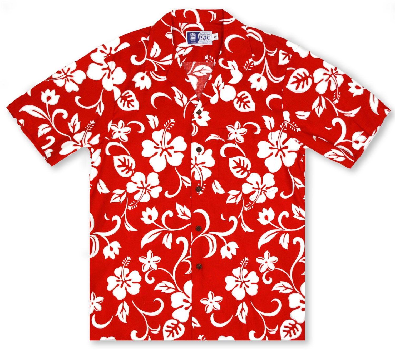 c459665e RJC Kalaheo Hawaiian Shirts From Aloha Shirt Shop   RJC Hibiscus Red   RC-02