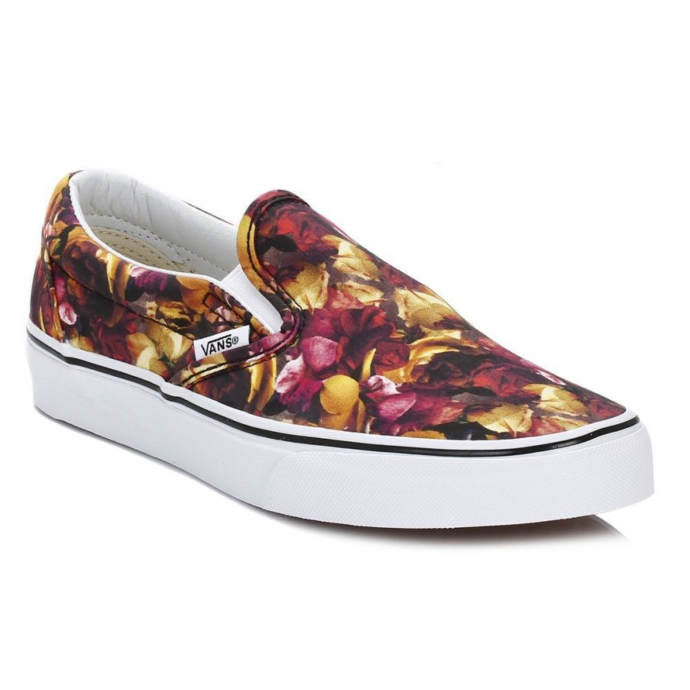 382931f498dcdf Vans Classic Slip On Womens Digi Floral Multi True White Canvas Shoes Size  UK 6