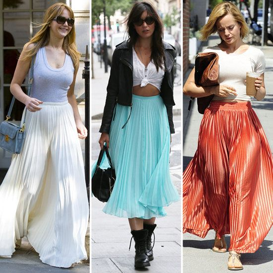 Vince Camuto on | Coral maxi, Celebrity street styles and Chiffon ...
