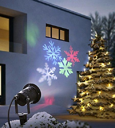 led strahler bewegte schneeflocken lichtprojektor wandstrahler outdoor beleuchtung weihnachten. Black Bedroom Furniture Sets. Home Design Ideas