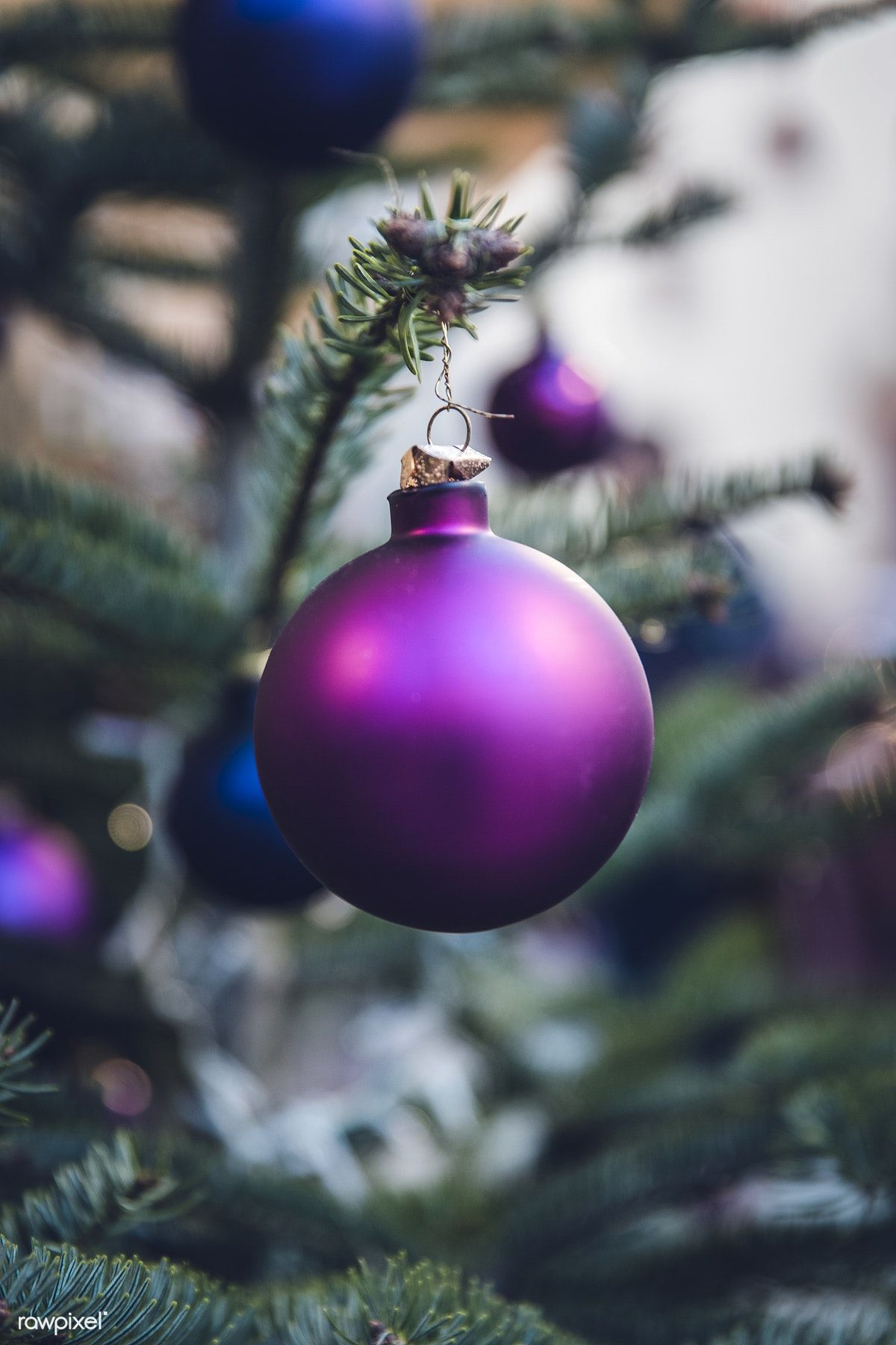 Close Up Of Christmas Tree Decorations - Free Image By