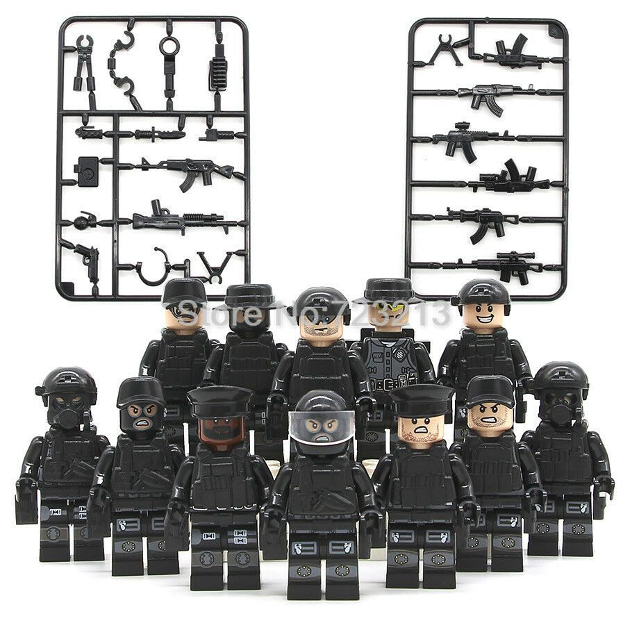 12pcs//lot Military Soldiers Army Figures Building Blocks Bricks Models Sets Toys
