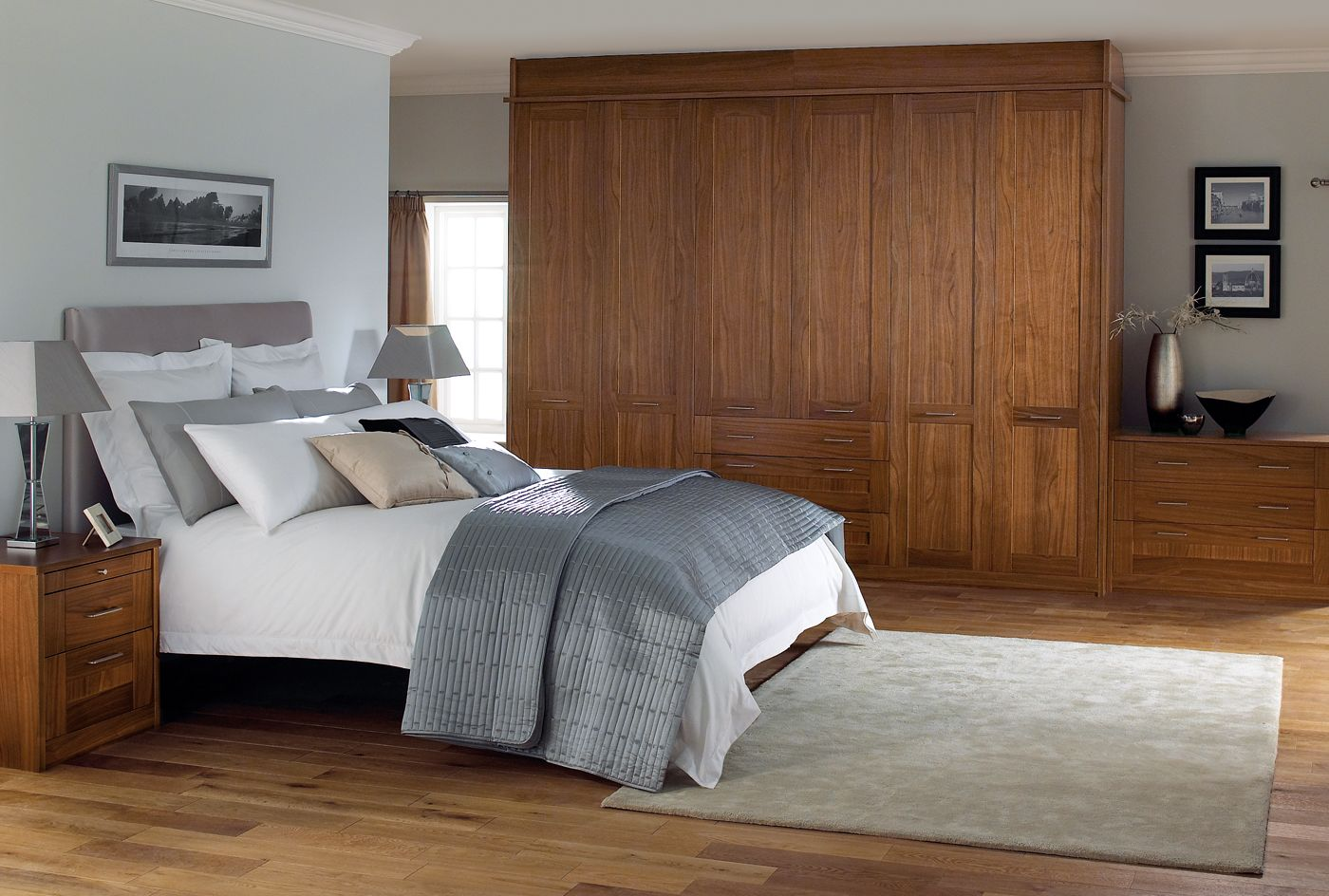 A complete bedroom from the Modena bedroom furniture range by Sharps ...