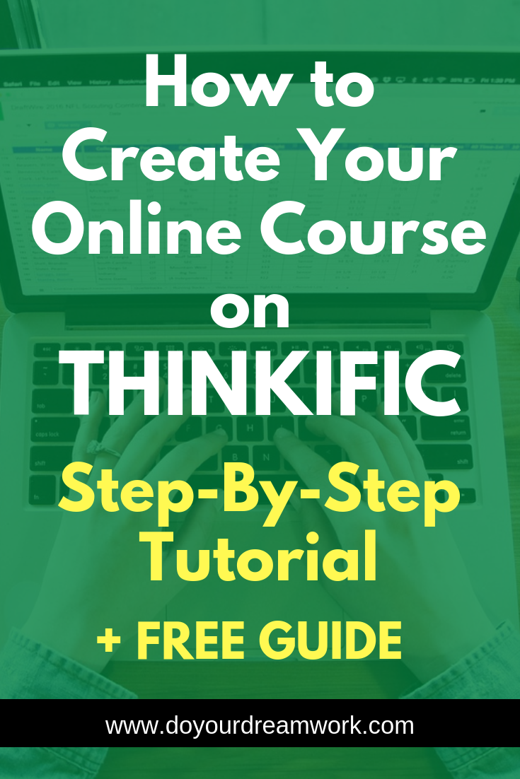 How To Create Your Online Course On Thinkific Step By Step Tutorial Create Online Courses Online Courses Online Course Creation