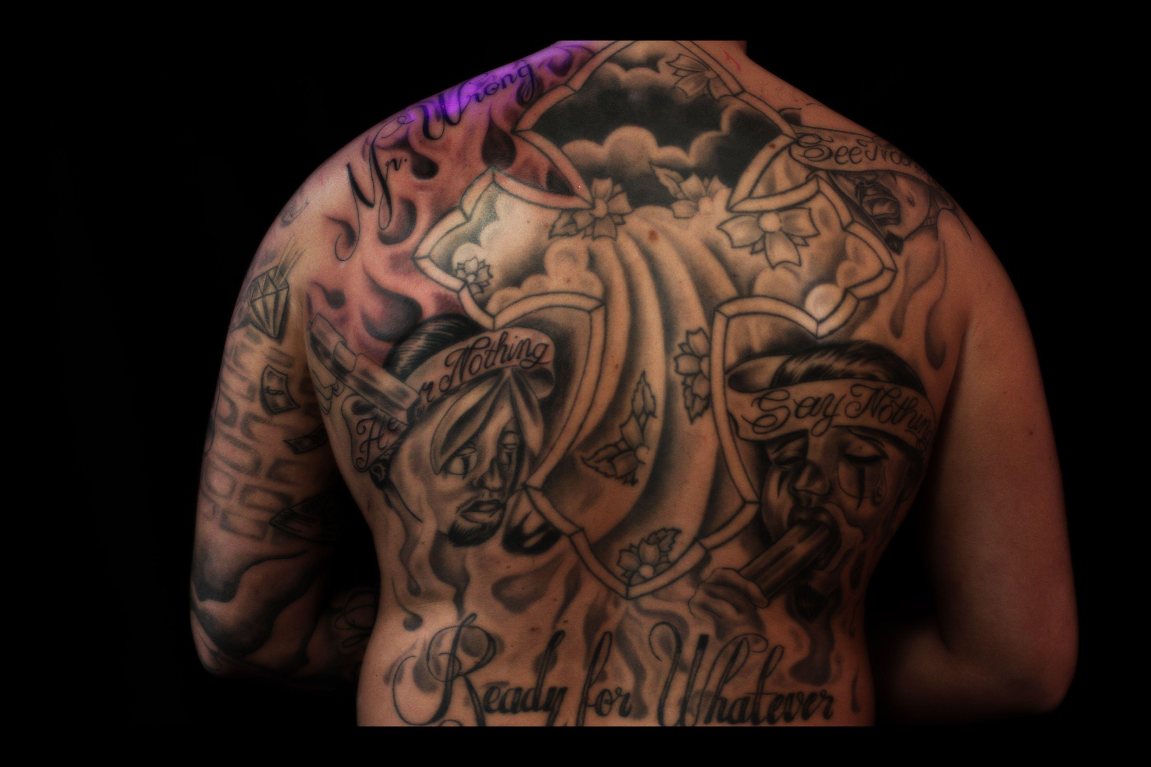Chicano Tattoo: Black And Grey Tattoos