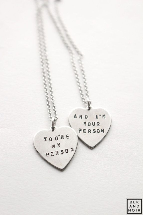 You\'re My Person Heart Necklace Grey\'s Anatomy by BLKANDNOIR | BLK ...