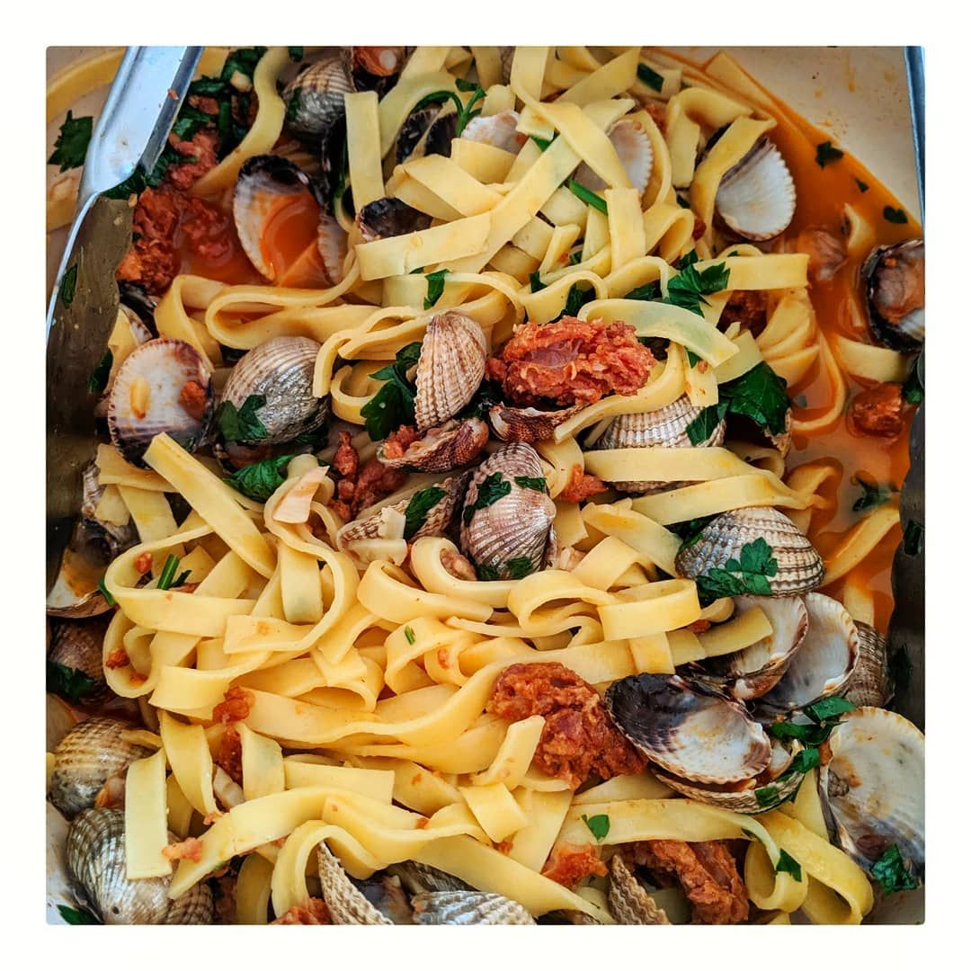 Would always rather be tucking into a big bowl of seafood pasta 😍 . . . . . . . . .