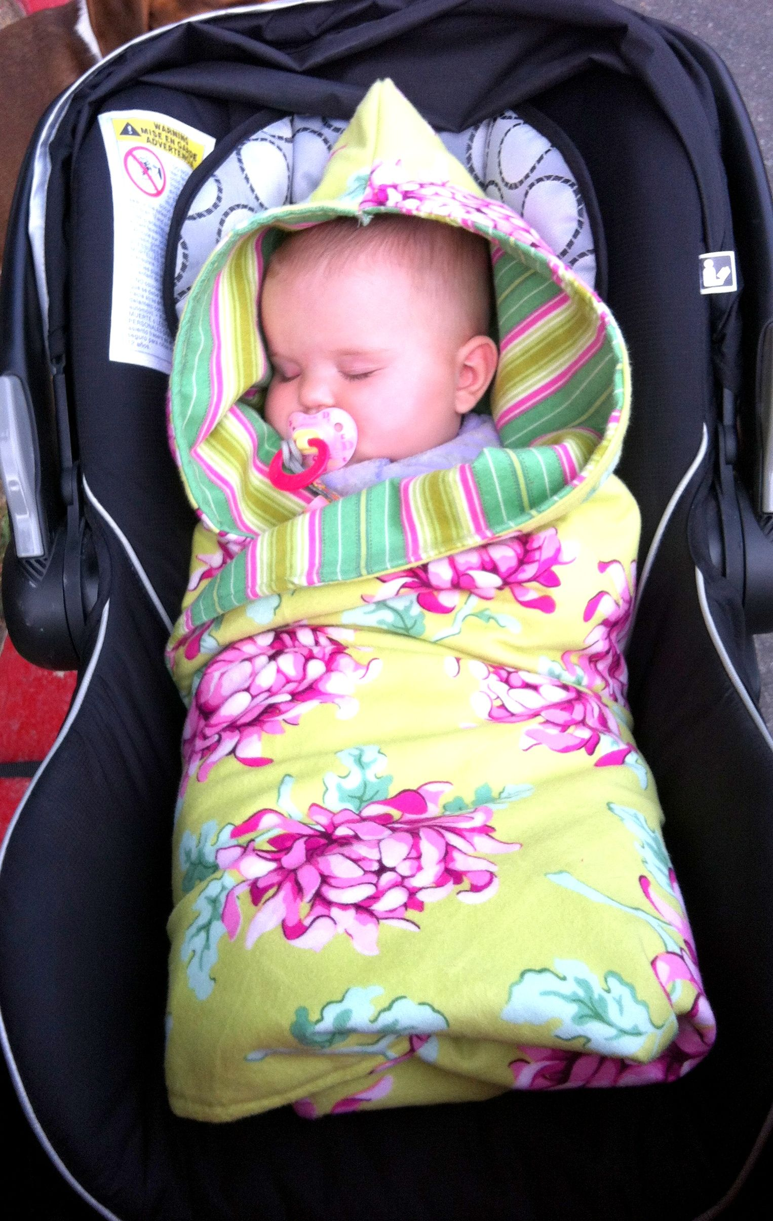 made a blanket car seat. perfect for our colder weather