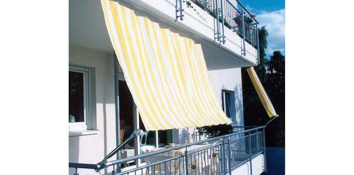 bestbewertet billig gut kaufen Einkaufen Floracord Balkonverkleidung Bausatz II Gelb-Weiß 270 cm x ...