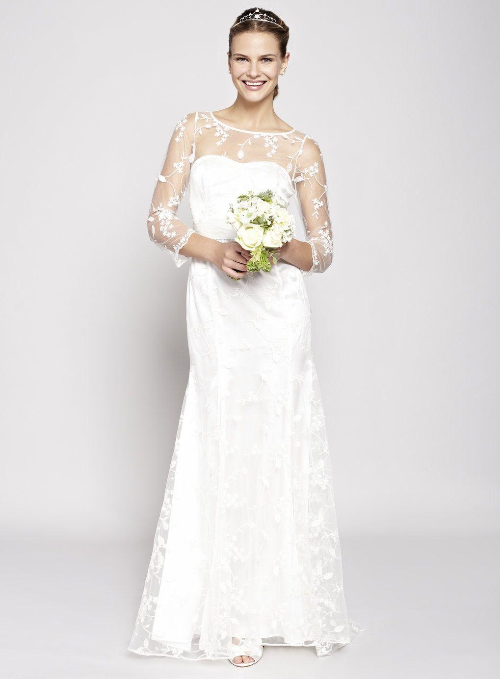 Ivory Violet Wedding Dress Bhs Wedding Dresses Size 14 Wedding Dress Long Sleeve Wedding Dresses