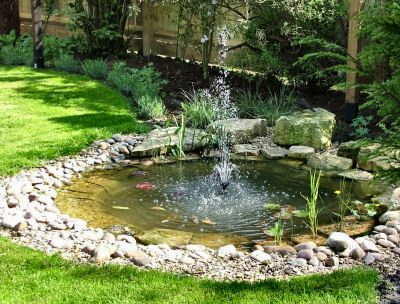 Small Pond With Solar Ed Pump Ponds For Gardens Water