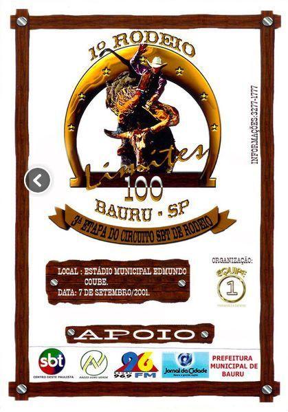 Um dos cartazes dos Rodeios do Bauru 100 limites.