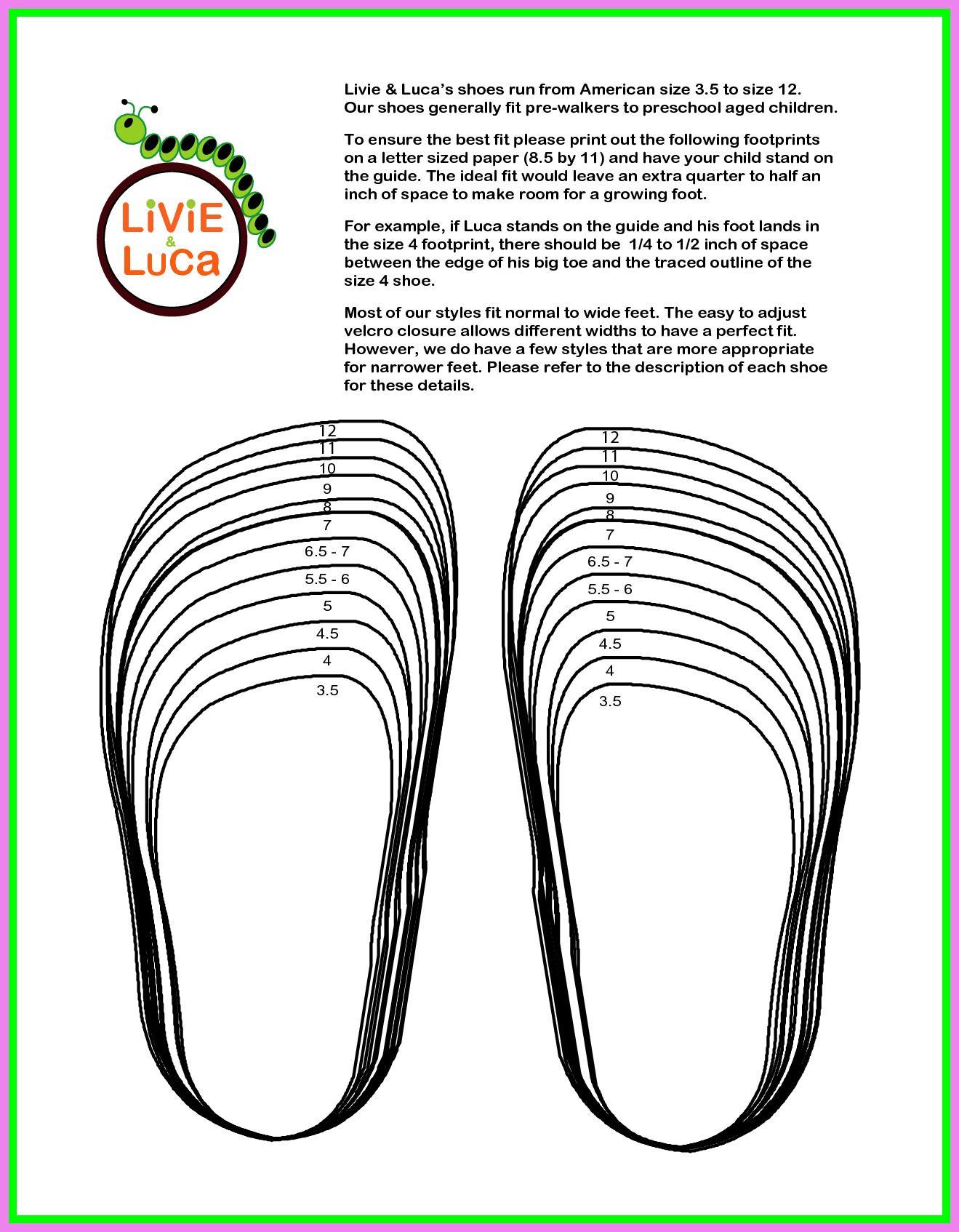 baby shoe Size Chart michael kors