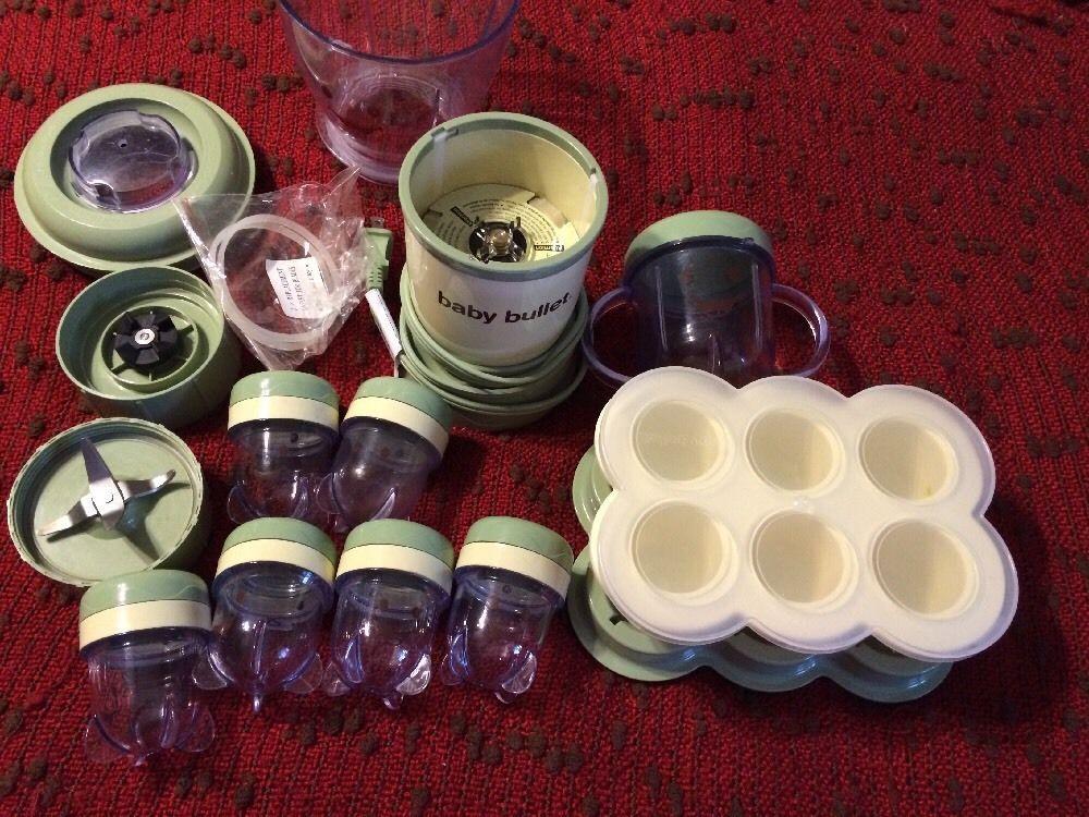 Baby bullet baby food making blender storage system