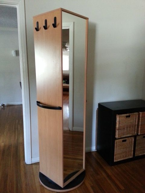 Ikea Kajak Rotating Swivel Cabinet Wardrobe Has Mirror From Shelves Kitchen Cabinets