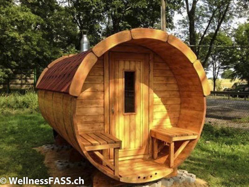 Garten Sauna Aussen Sauna Barrel Outdoor Sauna Wellnessfass Garten